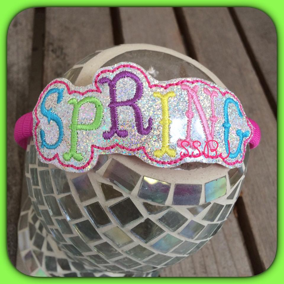 """Spring"" Glam Band Embroidery File"