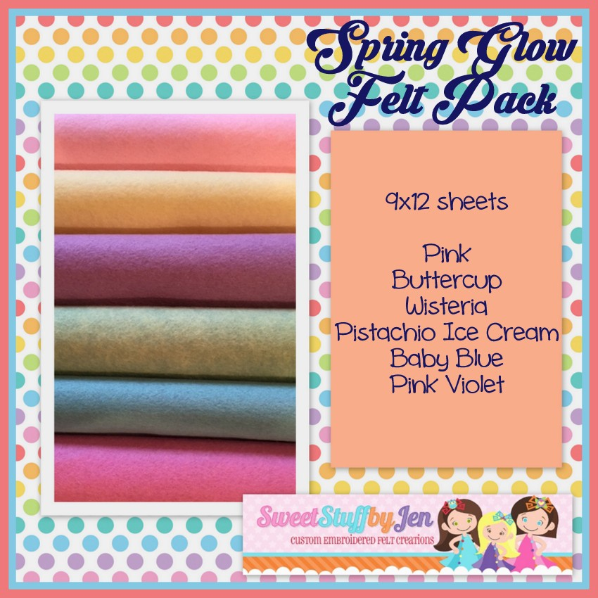 Spring Glow Wool Felt Bundle