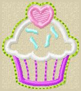 Sprinkle Cupcake Embroidery File