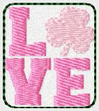 St Pat Love Embroidery File