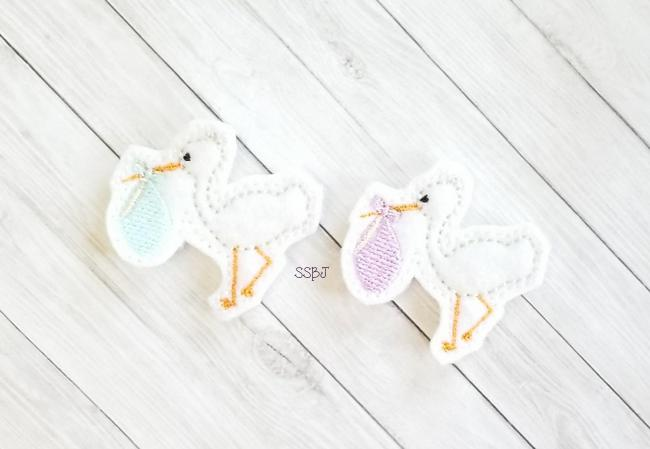 SSBJ Baby Stork Embroidery File