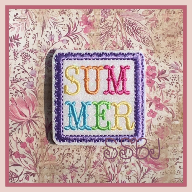 SSBJ Summer Square 1 Embroidery File
