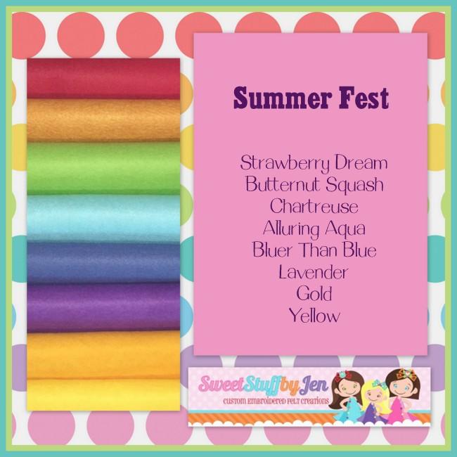 Summer Fest Variety Felt Pack