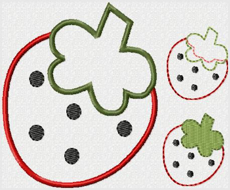 Summer Strawberry Embroidery File
