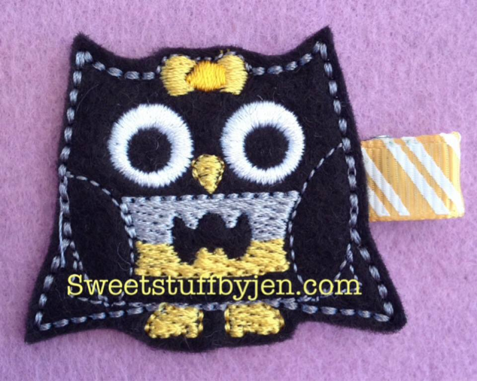 Batgirl Owl Embroidery File