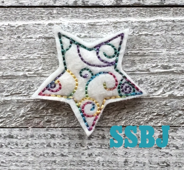 SSBJ Patriotic Swirly Star Embroidery File
