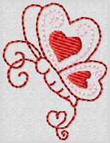 Swirly Butterfly Embroidery File