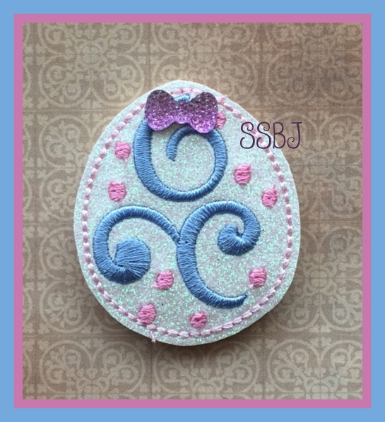 SSBJ Swirly Egg Embroidery File