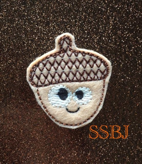 SSBJ Thanksgiving Friends Acorn  Embroidery File