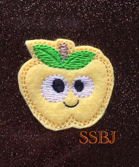 SSBJ Thanksgiving Friends Apple Embroidery File