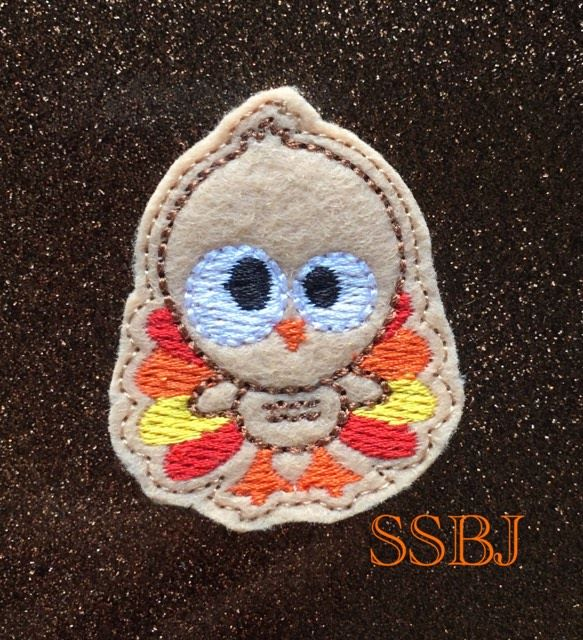 SSBJ Thanksgiving Friends Turkey Embroidery File
