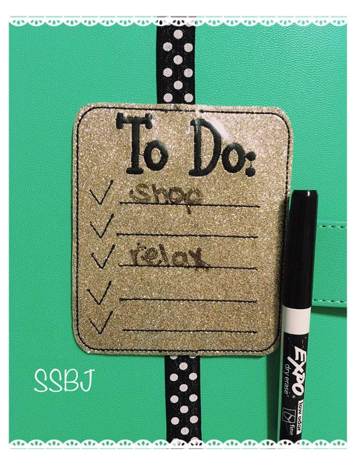 SSBJ To Do Checklist Embroidery File