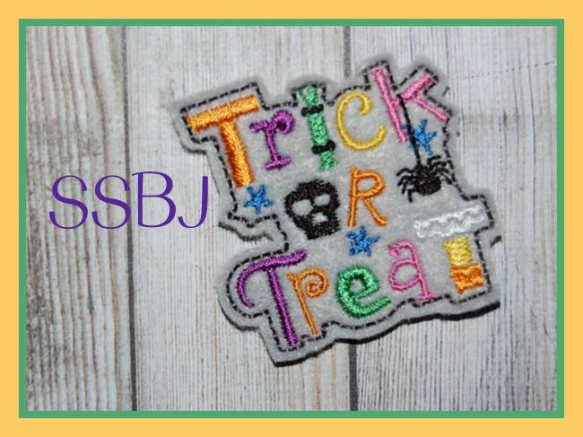 SSBJ Trick or Treat FELTIE  Embroidery File