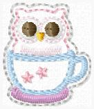 Teacup Owl Embroidery File