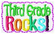 Third Grade Rocks Feltie Embroidery File