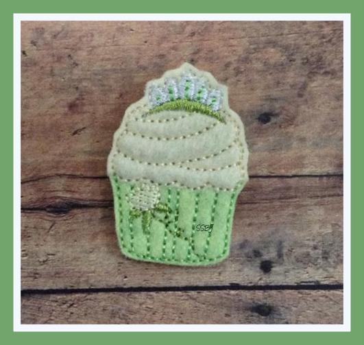 Tiana Cupcake Embroidery File