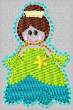 SS Princess Tiana FILL Embroidery File
