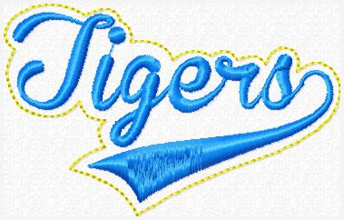 Tigers Sport Band Embroidery File