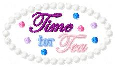 LBS Time for Tea Cover Embroidery File