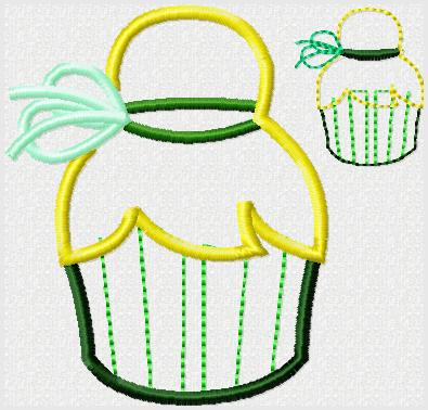 Tink Cupcake Embroidery File