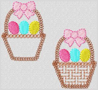 Tisket Tasket Easter Basket Embroidery File