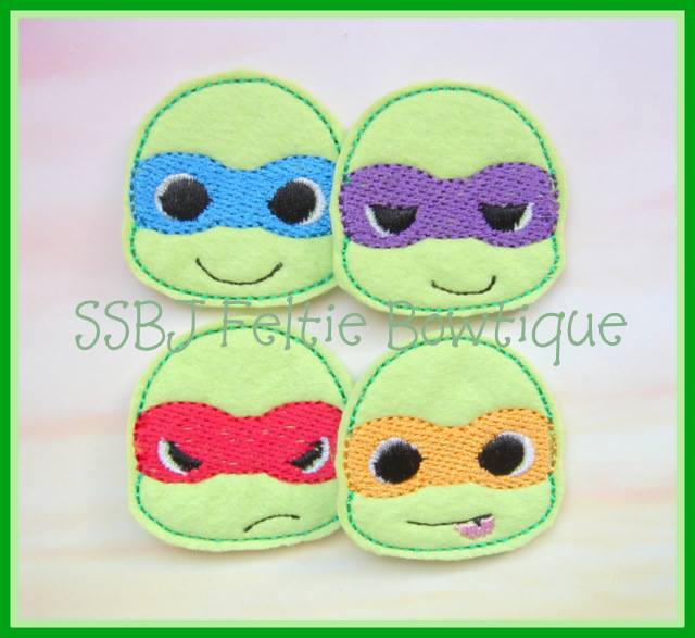 Toddler Turtle Embroidery File