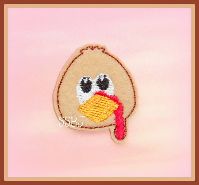 Tommy the Turkey Embroidery File