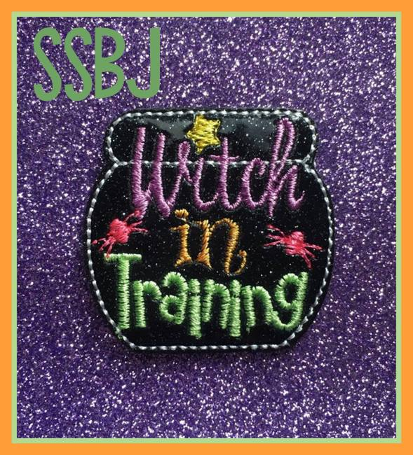 SSBJ Witch In Training Glam Band Slider Embroidery File