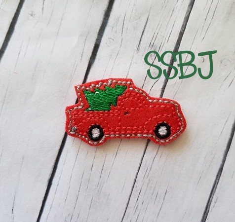 SSBJ Pick Up Truck Christmas Tree Embroidery File
