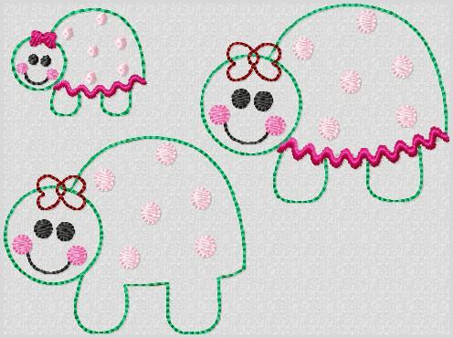 M2M Turtle Embroidery File