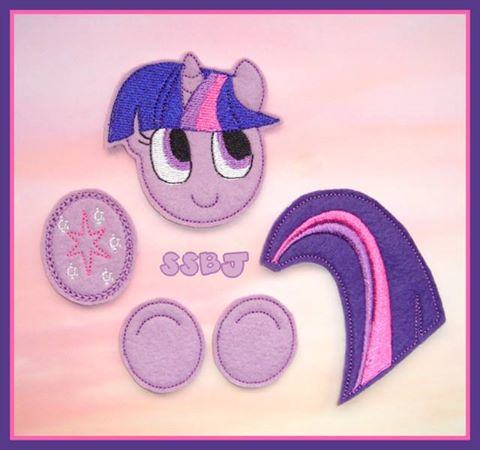Little Pony Parts-Twilight Embroidery File