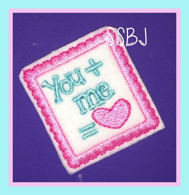 You + Me Embroidery File