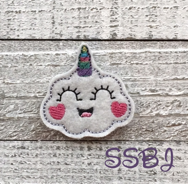SSBJ Unicorn Cloud Embroidery File