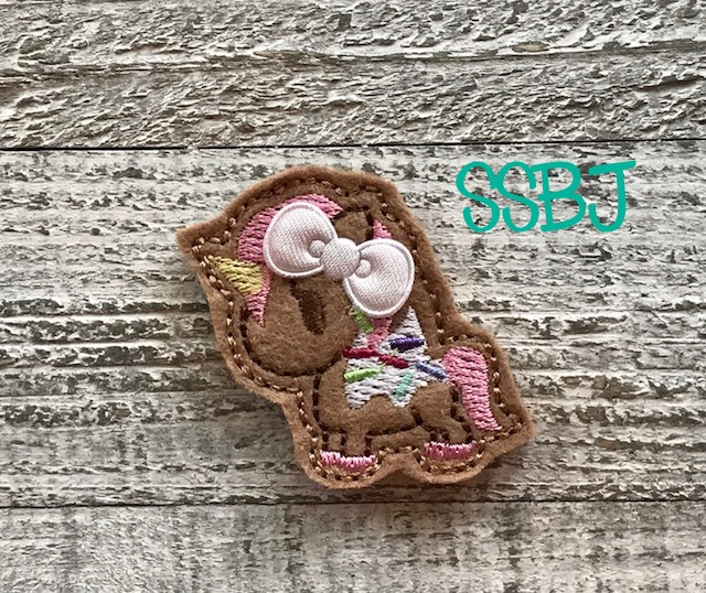 SSBJ Frosted Unicorn Sprinkles Embroidery File