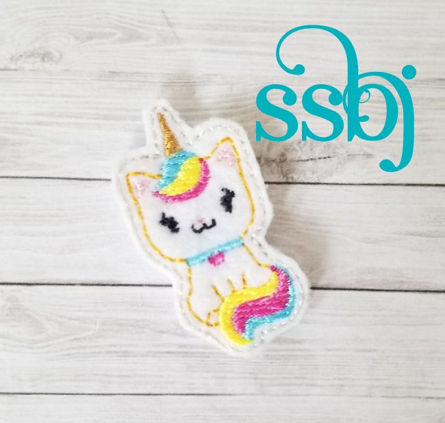 SSBJ Unicorn Meow Kitty Embroidery File
