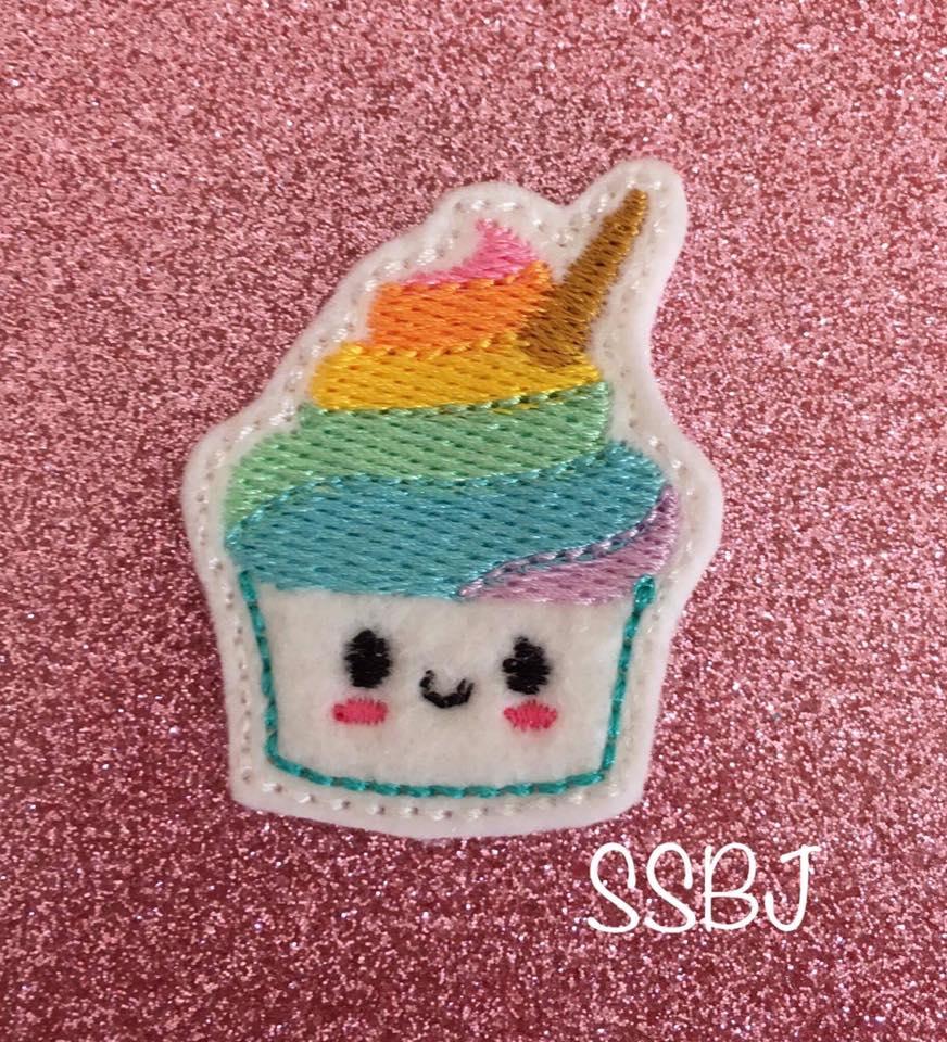 SSBJ Uni Poop Cupcake Embroidery File