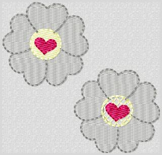Valentine Bloom Embroidery File