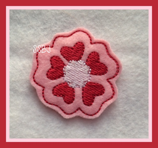 Valentine Flower Embroidery File