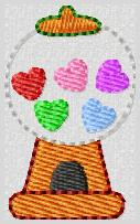 Valentine Gumballs Embroidery File