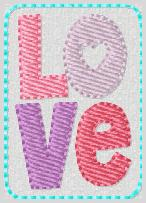 Valentine Love Embroidery File