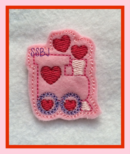 Valentine Train Embroidery File