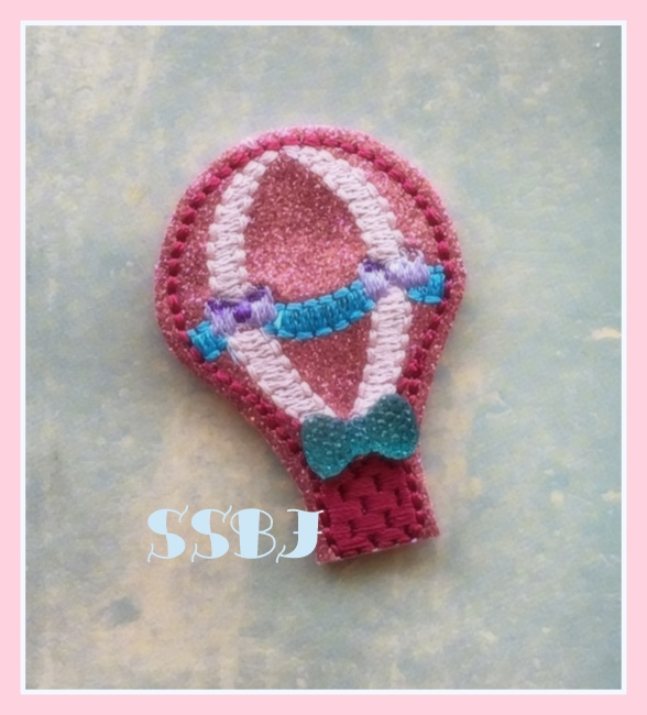 SSBJ Vintage Hot Air Balloon Embroidery File