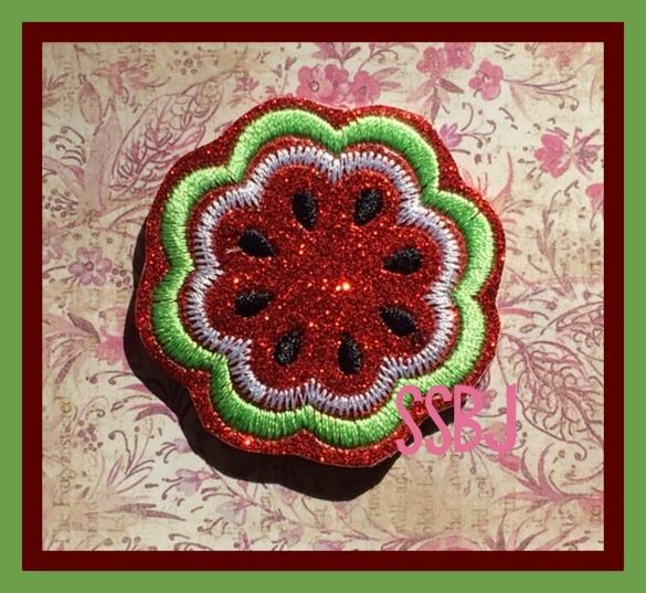 SSBJ Watermelon Scallop Embroidery File
