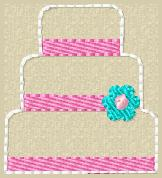 Wedding Cake Embroidey File