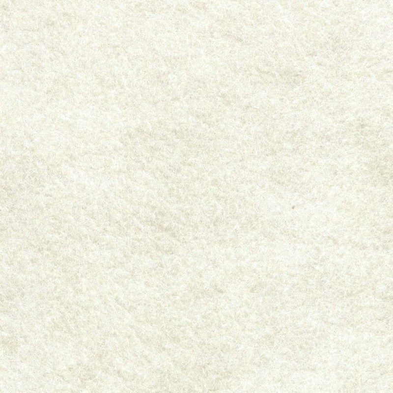 *White Wool Blend Felt