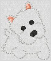 White Terrier Embroidery File