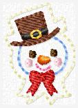 Snowman Willy Feltie 2 Border Embroidery File