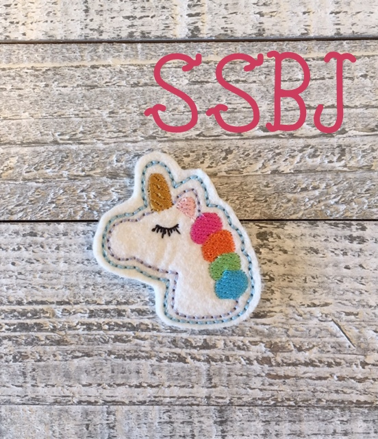 SSBJ Winking Unicorn Embroidery File
