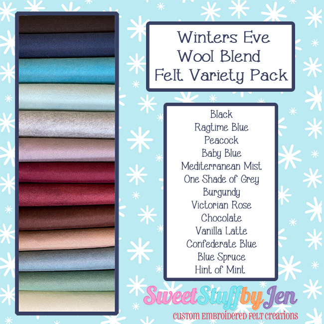 Winter's Eve Wool Blend Felt Variety Pack