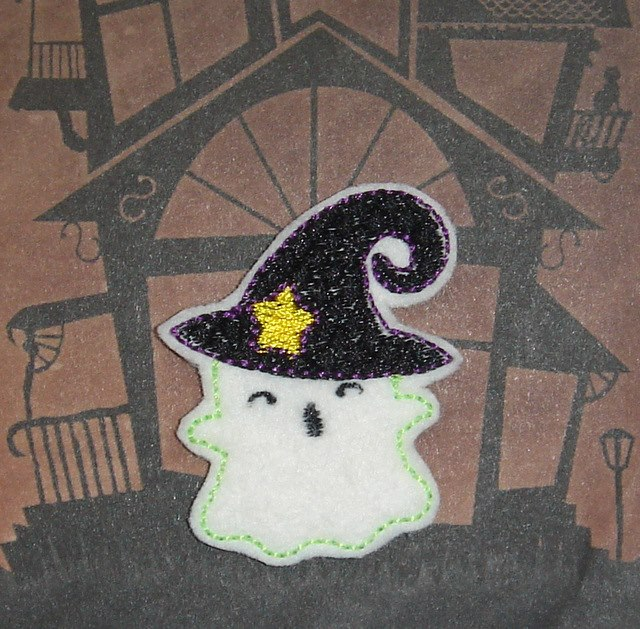 SSBJ Witch Ghost Embroidery File